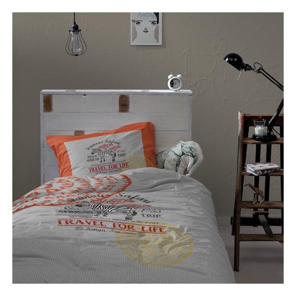 Bavlnené posteľné obliečky Damai Grey Tanzania, 200 x 140 cm