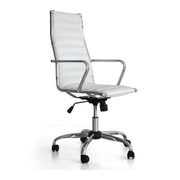 Pracovná stolička na kolieskach Presid, biela