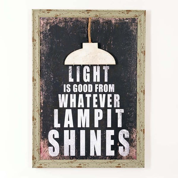 Drevený obraz Light Is Good