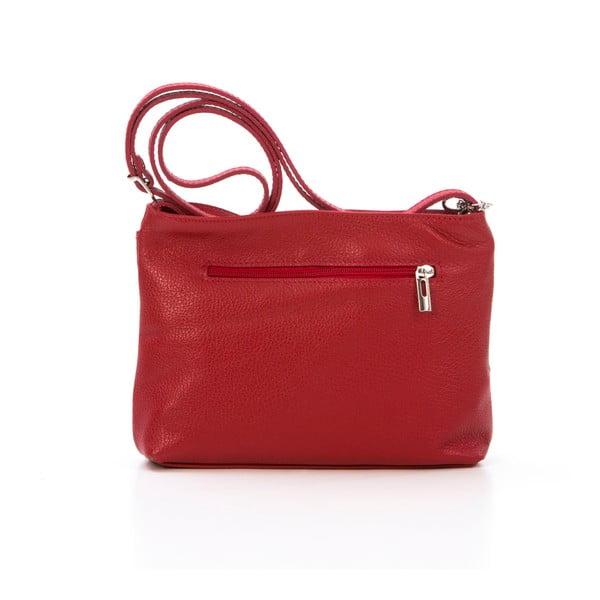 Kožená kabelka Francesco, červená