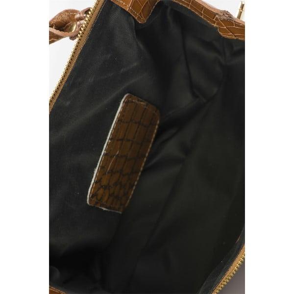Koňakovohnedá kožená kabelka Lisa Minardi Luciano