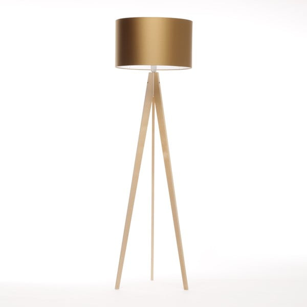 Stojacia lampa Artista Birch/Golden, 125x42 cm