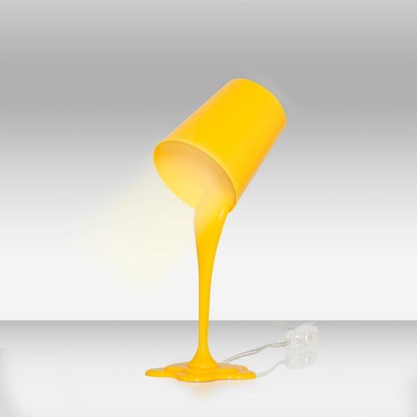 Žltá stolová lampa Homemania Ximena