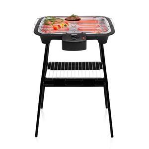 Čierny elektrický stolový aj stojanový gril Tristar, príkon 2000W