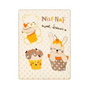 Detská deka s béžovými detailmi Naf Naf Sweet Dreams, 80 x 110 cm