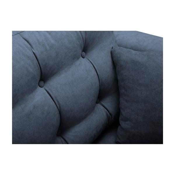 Modrá rozkladacia pohovka s úložným boxom Kooko Home Highlife