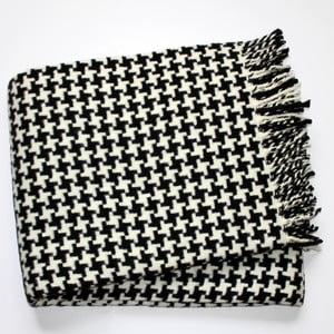 Čierna deka Euromant Pearls, 140x180cm