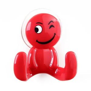Červený háčik v tvare panáčika Unimasa Happy