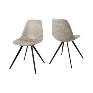 Krémová jedálenská stolička Canett Liva