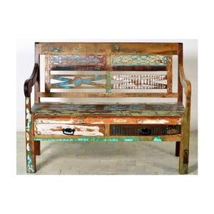 Rustikálna lavica z masívneho dreva SOB Openwater