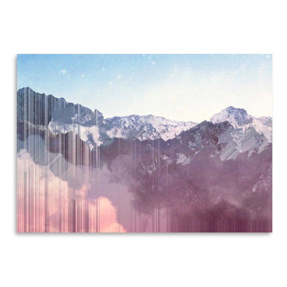 Plagát Americanflat Glitch Mountains, 30 × 42 cm