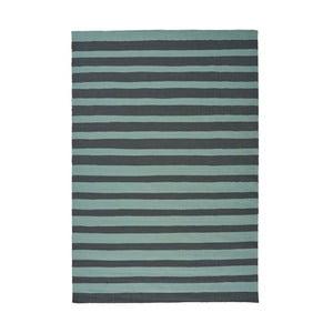 Tyrkysový ručne tkaný vlnený koberec Linie Design Toya, 200x300cm
