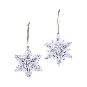 Sada 2 závesných vianočných dekorácií na stromček Ego Dekor Misto Snowflakes