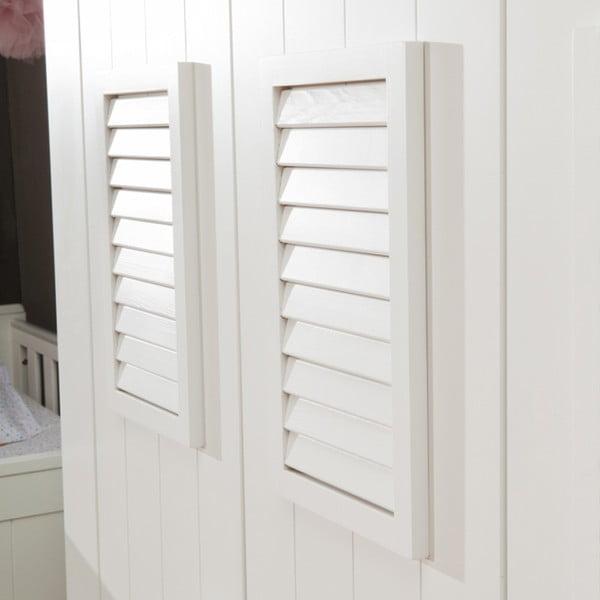 Vysoká biela dvojdverová šatníková skriňa Pinio Marseille