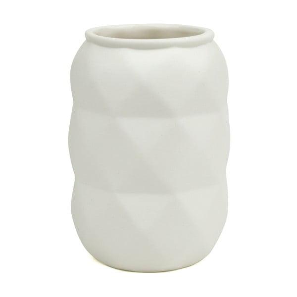 Váza Novoform Facet White