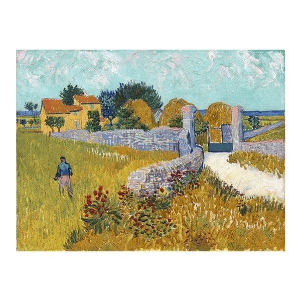 Obraz Vincenta van Gogha - Farmhouse in Provence, 50x70 cm