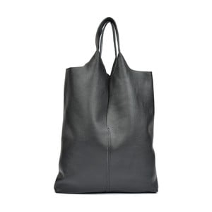 Čierna kožená kabelka Isabella Rhea Theo