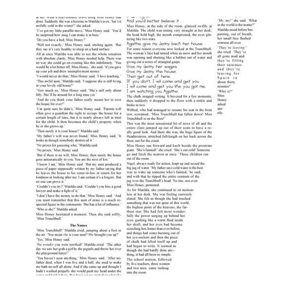 Knižný plagát Matilda, 70x100 cm