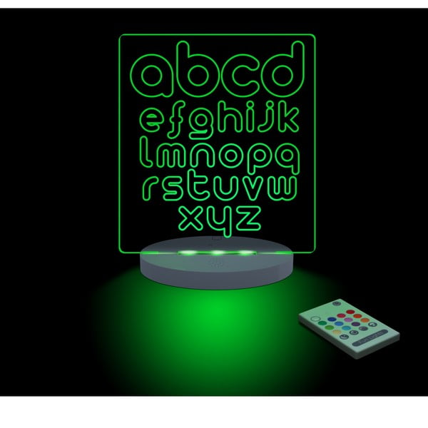 Detské LED nočné svetielko ABC