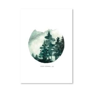 Plagát Green Mountain, 30x42 cm