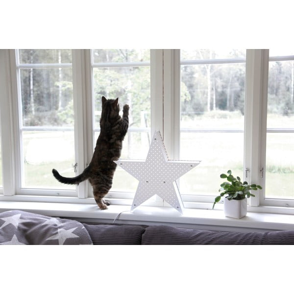 Biela svietiaca LED hviezda Best Season Starlight