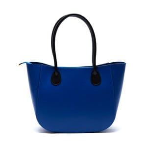 Kožená kabelka Cuco, modrá
