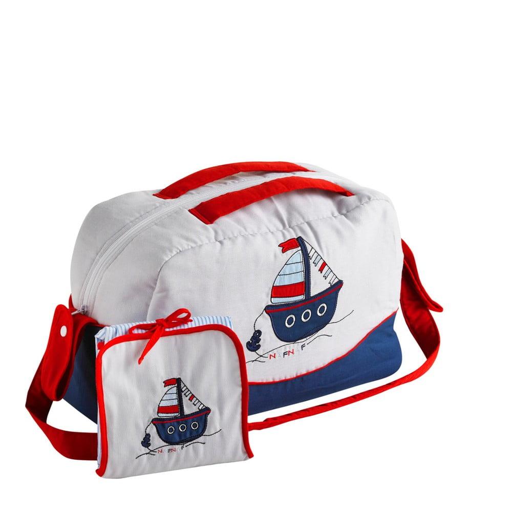 Set tašky cez rameno a prebaľovacej podložky Naf Naf Little Boat