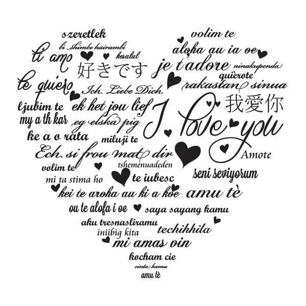 Dekoratívna nástenná samolepka My Love