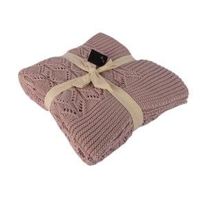 Béžová bavlnená deka Homemania Cotton, 170 x 130 cm