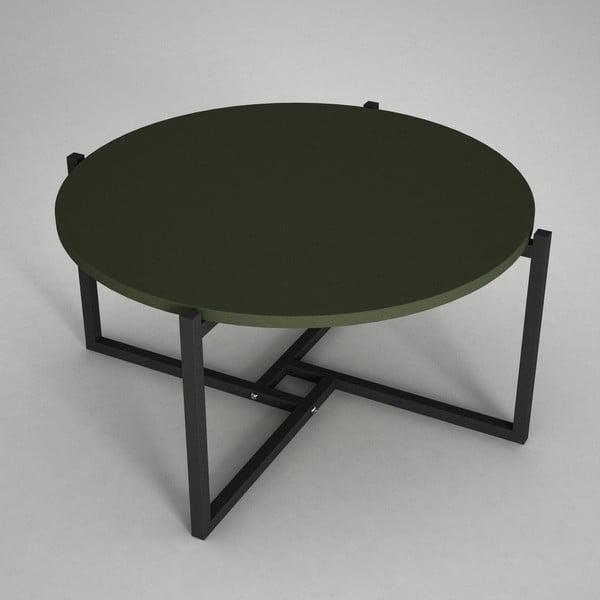 Konferenčný stolík s doskou v tmavo zelenej farbe Noce, ⌀ 68 cm