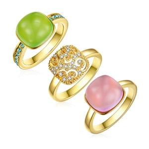 Sada 3 prsteňov s krištáľmi Swarovski Lilly & Chloe Chloé, veľ. 54