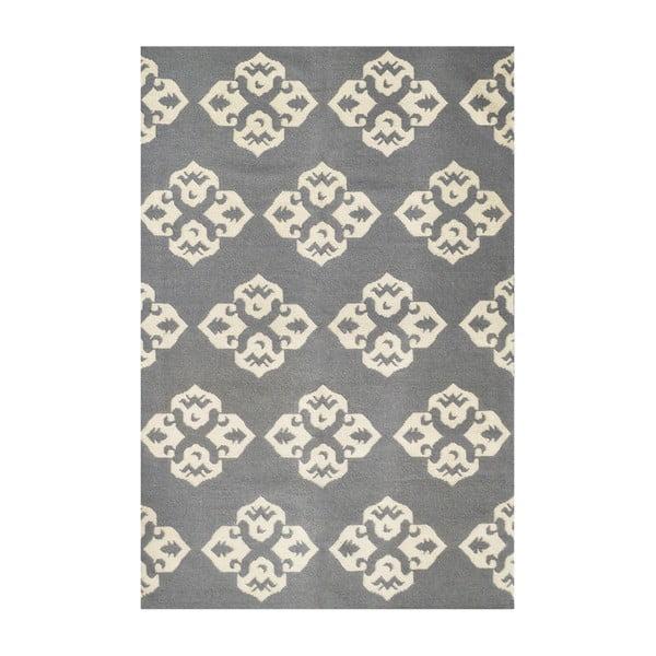 Vlnený koberec Leona Flowers, 150x245 cm
