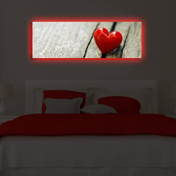 Obraz podsvietený LED diódou Act, 30x90 cm