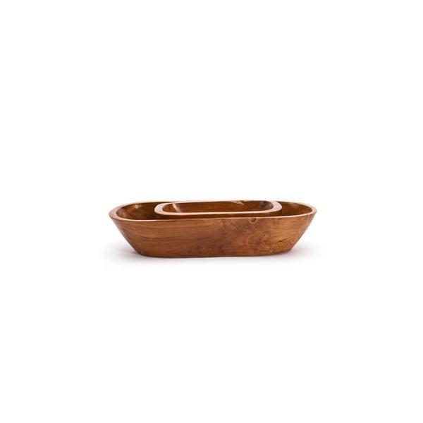 Ručne vyrobená teaková misa Fact, 30 cm