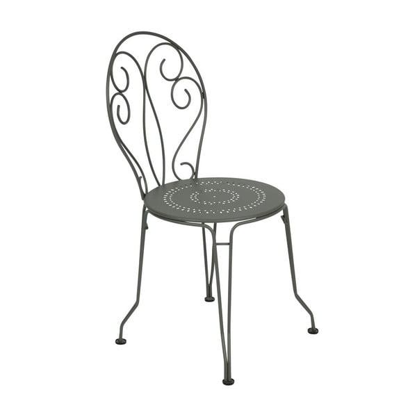 Sivá kovová stolička Fermob Montmartre