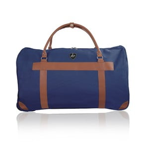 Modrá cestovná taška na kolieskách GENTLEMAN FARMER Oslo, 93 l