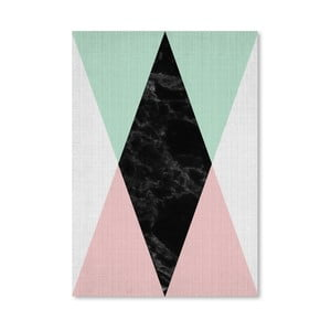 Plagát Geometric Pink Mint
