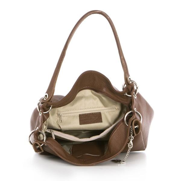 Kožená kabelka Dellio Marrone