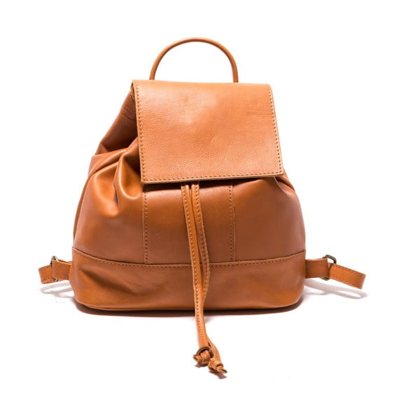 Hnedý kožený batoh Sofia Cardoni Fredo
