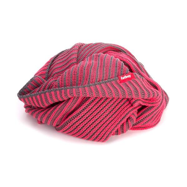 Sivo-ružová vrúbkovaná deka Fatboy Klaid