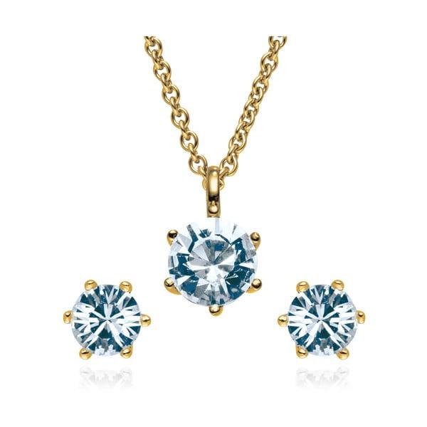 Sada náušníc a náhrdelníku Gloss Blue
