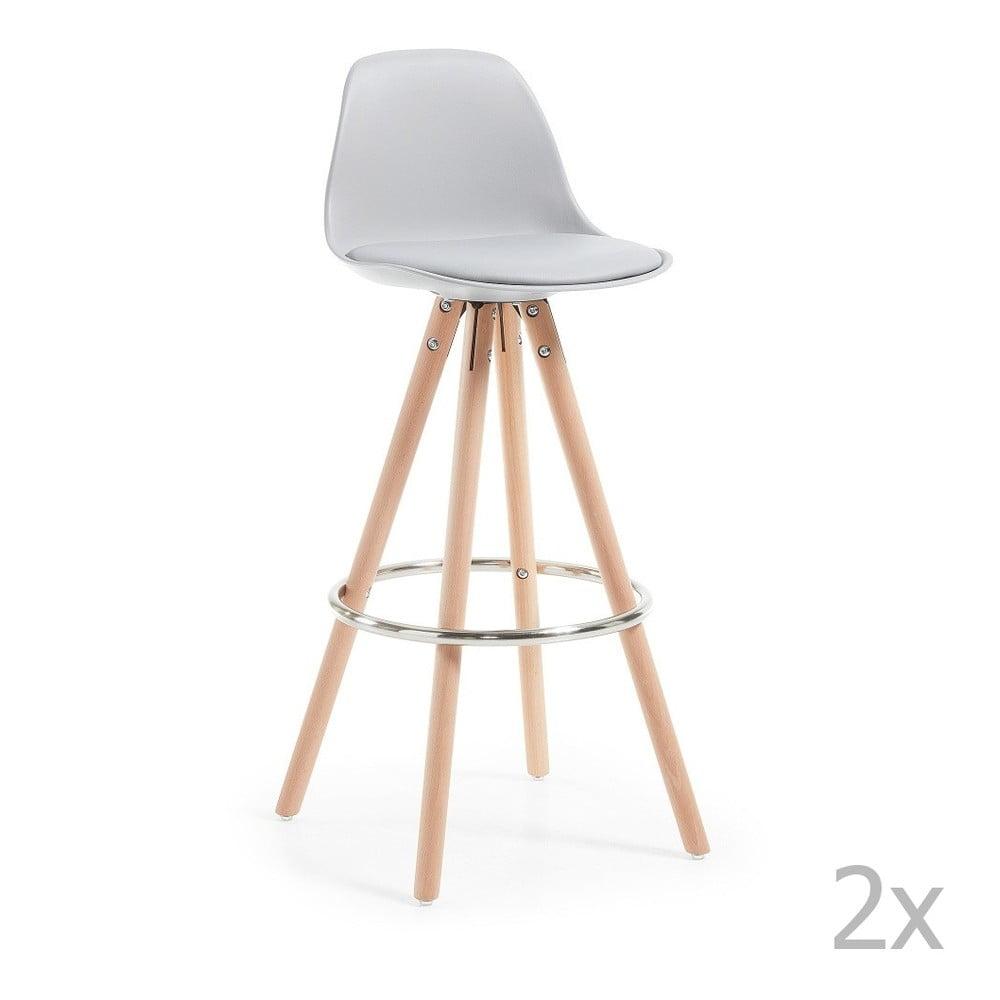 Sada 2 svetlosivých barových stoličiek La Forma Stag