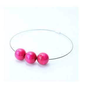 Ružový drevený náhrdelník Ko-ra-le Simple