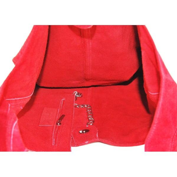 Kožená kabelka Blurisa Rosso