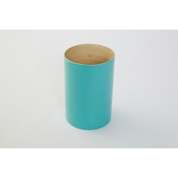 Bambusová dóza na kuchynské nástroje Bamboo Tyrkys, 18 cm