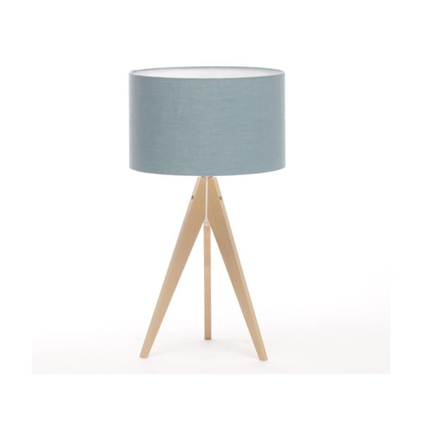 Stolná lampa Arist Light Blue/Natural