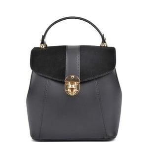 Čierny kožený batoh Isabella Rhea Carmit