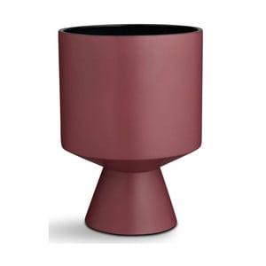 Vínový kameninový kvetináč na podstavci Kähler Design Fiora