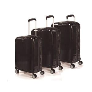 Sada 3 kufrov Jaslen, čierna