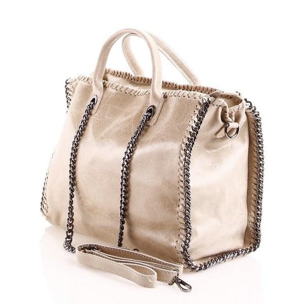 Kožená kabelka Gloria, piesková